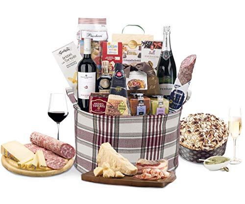 Cesto Regalo Tradizione Natalizia - Cesti Natalzi Esclusivi Prodotti Alta Gastronomia - Cod.134