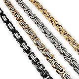 Fly Style Königskette oder Armband 5 mm Stärke aus Edelstahl, Farbwahl:Silber/schwarz, Längen:45 cm