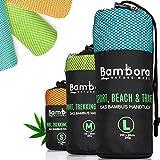 Bambora Bambus Handtuch Schnelltrocknend Reisehandtuch - Ultra Leichtes Mikrofaser Handtücher Schnelltrocknend, Badetuch, Strandtuch zum Reisen, Sport & Baden
