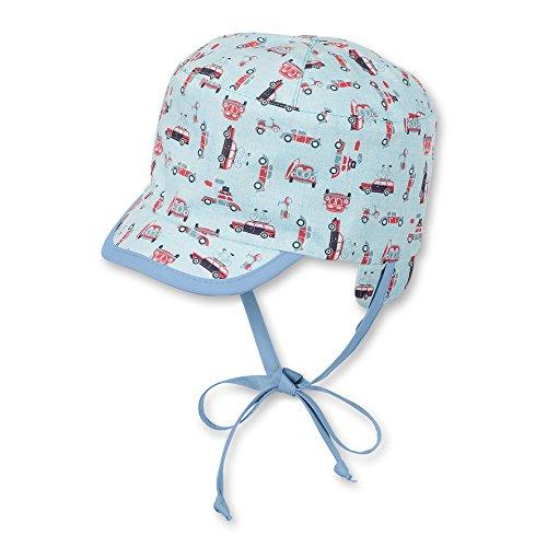 Sterntaler Unisex Wende-Schirmmütze mit Nackenschutz und Bindebändern, Alter: 12-18 Monate, Größe: 49, Blau (Mint)