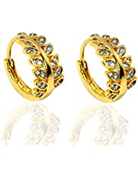 Gold Plated American Diamond Fashion Earrings For Women & Girls
