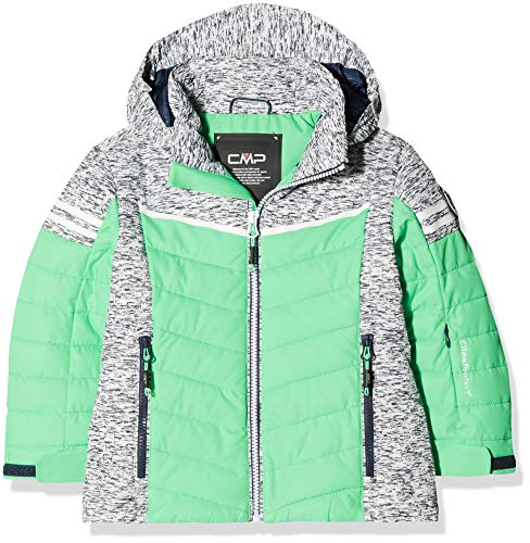 CMP Mädchen Wattierte 5000 Twill Skijacke Jacke, Ice Mint, 116