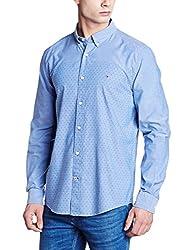 Tommy Hilfiger Mens Casual Shirt (8907504171866_A6CMW006_M_Dallas Blue)