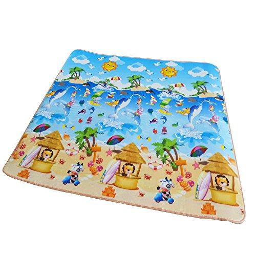 Style home 10mm dicke Kinderfreundliche Bodenmatte Krabbelteppich Spielteppich Kinderteppich Spielmatte Picknickdecke KPM-A4