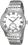 Guess Herren Analog Quarz Uhr mit Edelstahl Armband W1078G1