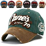 ililily Distressed Vintage Cotton embroidered Baseball Cap Snapback Trucker Hut (ballcap-507-0)
