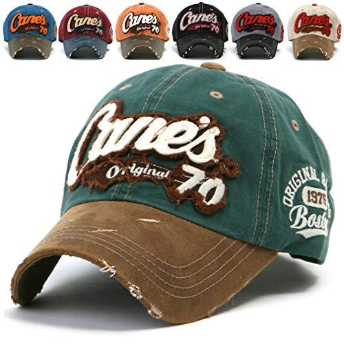 ililily Distressed Vintage Cotton embroidered Baseball Cap Snapback Trucker Hut (ballcap-507-0) Boston Trucker Hut