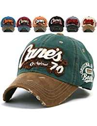 dce29d03b2d10 ililily Distressed Vintage Cotton embroidered Baseball Cap Casual Strapback  Trucker Hat