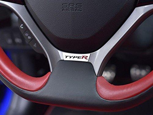 Interieur Stahlabdeckung für Type R IV FK2-1 Stück Lenkrad Platte Edelstahl Gebürstet Blenden Dekor Mass Angefertigt (2015-honda Civic-zubehör)