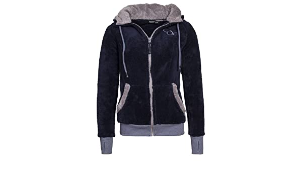 Eight2nine Jacke Fleece Teddy Mit Kontrast Damen Eyes Ohren EIDH29