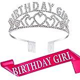 Corona Brillante de Birthday Girl Diadema de Adorno de Cristal Di