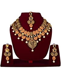 Party Wear Traditional Kundan Jewellery Set / Necklace Set For Women With Earrings Maang Tikka / Bridal Jewellery...