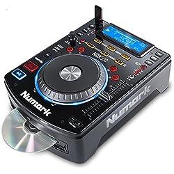 Numark NDX500 - Platine Multimédia USB/CD et Contrôleur de Logiciel avec Jog Wheels Tactiles, Interface Audio, Commandes de Fader à Long Débattement et Préconfiguration pour Serato DJ