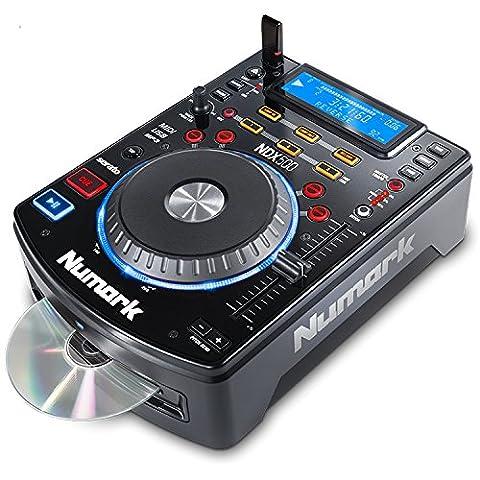 Numark NDX500 - Platine CD / MP3 / USB Autonome, avec Carte Audio Intégrée et Contrôleur MIDI – Jog Wheel Touch-Sensitive