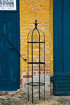 Stabile Rankhilfe Metall H: 195cm Ø: 41cm Rankgerüst Obelisk SCHWARZ von kuheiga - Du und dein Garten