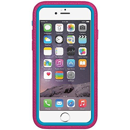Amzer Crusta edge2edge Shell Housse Coque Étui robuste avec verre trempé et clip ceinture pour iPhone 6Or/Argent _ P Blue, Magenta