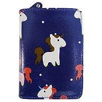 Kukubird Various Cats Unicorns Animals Anchor Umbrella Floral Pattern Medium Ladies Purse Clutch Wallet