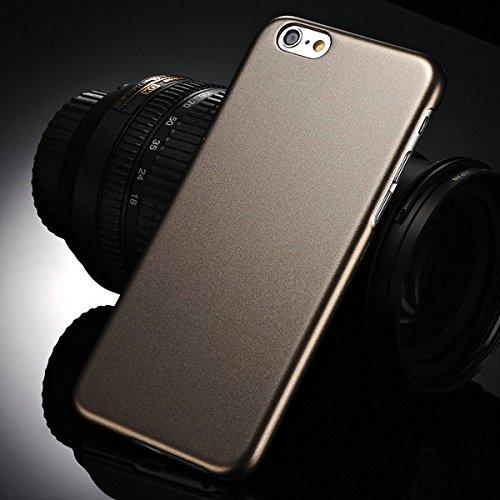 """aridox Peinture Métallique (TM) Coque rigide pour iPhone 66G Téléphone 11,9cm """"Ultra Slim Coque Arrière en Plastique bord noir neuf"""