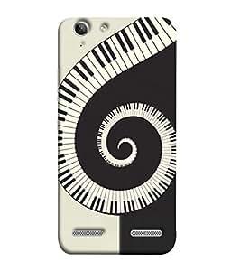 Fuson Designer Back Case Cover for Lenovo Vibe K5 Plus :: Lenovo Vibe K5 Plus A6020a46 :: Lenovo Vibe K5 Plus Lemon 3 (Black White Pattern Musical Instruments Whirlwind)