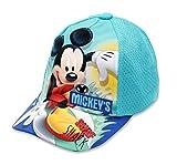 Disney Micky Maus Jungen Cap Kappe Schirmmütze (Hellblau, 54)