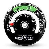 Termometro con fornello magnetico | Monitor della temperatura del focolaio Aumentare l'efficienza e ottimizzare il consumo di carburante Pukkr