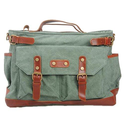 b75cfeede1a10 5 All Damen Herren Teenager Vintage Canvas Leder Tasche Groß Weekender  Handgepäck Umhängetasche Reisetasche Sporttasche (