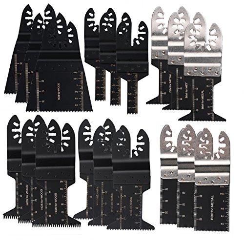 18 oszillierende Multitool-Sägeblatter von OxoxO für Porter Rockwell Kabel, Black und Decker, Fein Multimaster, Bosch Craftsman Ridgid Ryobi, Makita Milwaukee, Dewalt, Chicago und mehr -