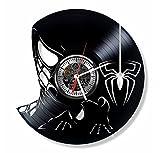 Cadeau. Temps. Uk2000Spiderman Disque Vinyle Horloge Murale-Fait Main Ornement Décoration et...