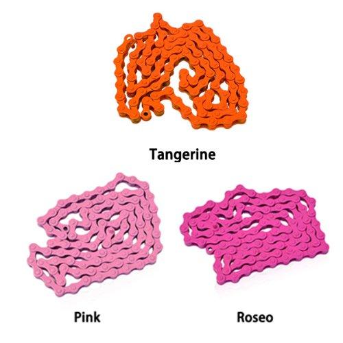 INBIKE fijada engranaje moto bicicleta aceros de alta resistencia cadena 98 segmentos - rosa