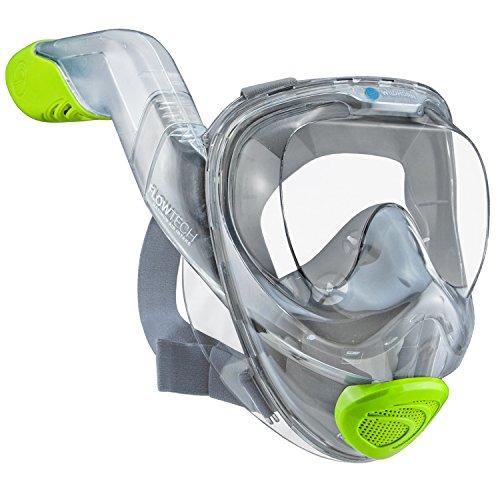 Seaview 180° V2 para hacer esnórquel con respiración avanzado FLOWTECH. Permite hacer esnórquel de manera natural y segura. Tiene un diseño lateral panorámico que permite respirar un 50% más fácil.