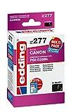 edding Tintenpatrone EDD-277 ersetzt Canon PGI-525BK Doppelpack - 2x Schwarz - 2x 20,0ml