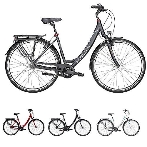 Pegasus Solero SL 7 Gang Wave Damenfahrrad City Bike Damenrad mit Rücktritt 2018, Farbe:schwarz, Rahmenhöhe:45 cm