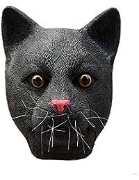 Máscara De Sheriff De Gato Negro Locura De Animal City Headgear De Los Láseres Máscara De