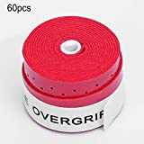 KNOSSOS 60Pcs/Set Tennis Overgrip Perforated Tennis Rackets Grips Badminton Overgrip - Red