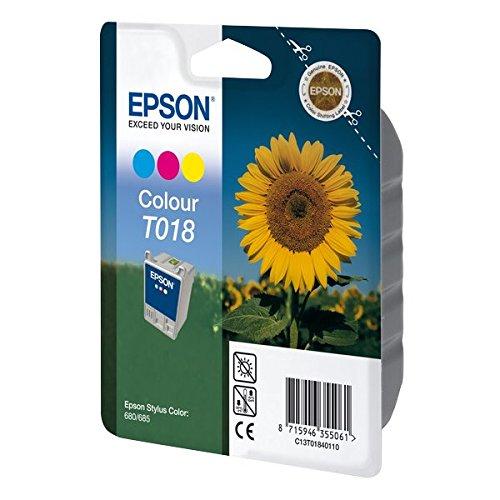 Epson T018 Cartouche d'encre d'origine Jaune, cyan, magenta