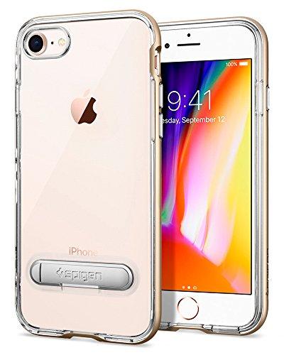 iPhone 8 / 7 Hülle, Spigen® [Crystal Hybrid] iPhone 8 Hülle, Integrierter Metall-Kickstand [Dante Red] Durchsichtiges TPU / PC - 2-teiliges Premium Case Schutzhülle für Apple iPhone 7 Hülle / iPhone 8 CH Champagne Gold