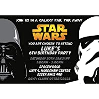 Star Wars Party Invitations Envelopes Invites