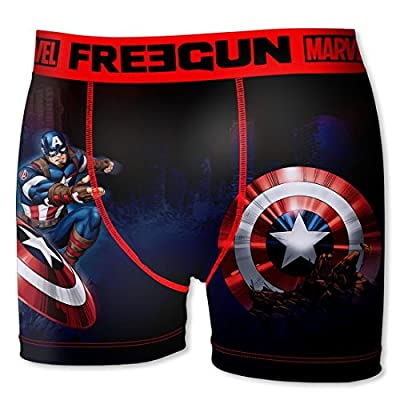 Boxer Freegun Homme Marvel War