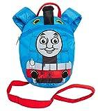 Zaino per bambini, motivo: trenino Thomas, con imbracatura di sicurezza staccabile, per controllo dei genitori, Blu (Blu) - MNCK13033