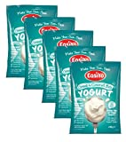 EasiYo Premium Flavoured Greek & Coconut Yogurt - Each Sachet makes 1kg - For use with EasiYo Yoghurt Makers - 5 Pack
