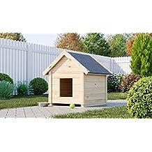 Caseta de madera para perros gartenpro 95 x 65 ...