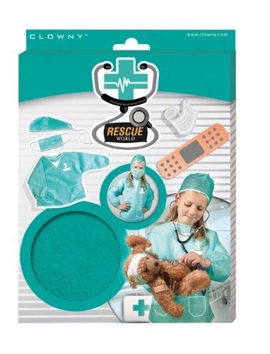SES-Creative Hobby e creatività Istruttivo ed educativo Carnevale Giochi di Ruolo Accessori da Chirurgo Rescue World Bambini Unisex, Multicolore, SES09207