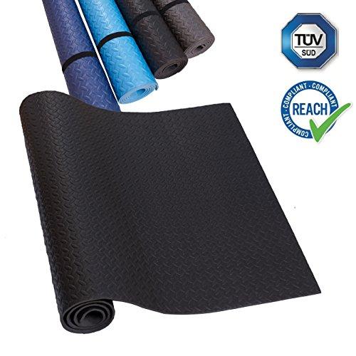 EVA Unterlegmatte Laufband schwarz Yogamatte Rutschfest & Schalldämmend - Boden-Schutzmatte Fitness-Raum Bodenbelag;TÜV und SGS Geprüft