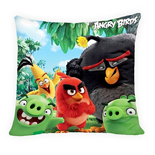 Halantex Angry Birds Kissen Dekokissen Kuschelkissen 40x40 (Angry Bird Kissen)