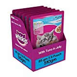 #10: Whiskas Tuna in Jelly, Wet food for Kittens, 85 g pouch (Pack of 6)