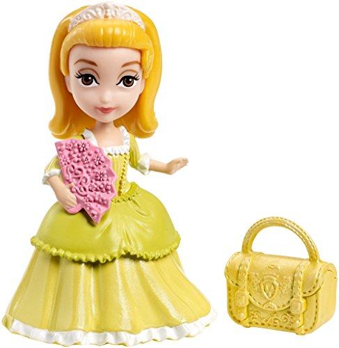 Mattel CJR01 - Disney Princess - Sofia die Erste - Prinzessin Amber mit Handtasche - 9 cm Spielfigur & Zubehör