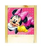 Lampe aus Holz natur Minnie Mouse