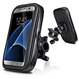 Bike Mount, Repou Universel Support fixation guidon 5.2-5.7 Pouce Sacoche étanche + Support vélo, Convient pour iPhone 6s Plus, iPhone 6 Plus, Samsung Galaxy S7 EDGE, Samsung Galaxy S7, Samsung Galaxy S6 S5, Samsung Galaxy S6 EDGE, HUAWEI P9 P8, LG G5 G4