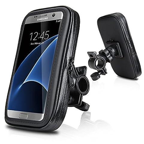 Wasserdicht Fahrradhalterung, Repou Fahrrad und Motorrad Halterung Halter Universal mit Wasserdichter Tasche für Handy Smartphone 5,2 Zoll - 5,8 Zoll wie z.B. iPhone 6s Plus, iPhone 6 Plus, Samsung Galaxy S7 EDGE, Samsung Galaxy S7, Samsung Galaxy S6 S5, Samsung Galaxy S6 EDGE, HUAWEI P9 P8, LG G5 G4,Samsung Galaxy