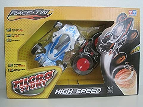 Race-Tin Micro Stunt High Speed 17KMH Radio Control Car 1:32 Scale Slop Long Jump, Super Spin & Jump Of 0.4m by Auley